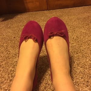 Magenta Ballet Flats with Bow