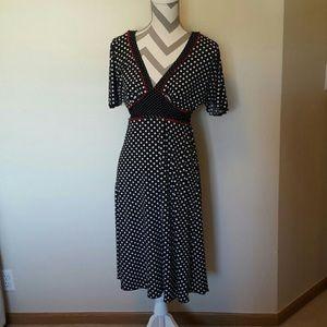 Candies polka dot tie waist pin up dress!