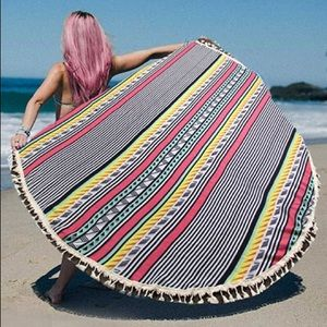 Other - NWT Boho Tribal Blanket Towel Cover Up