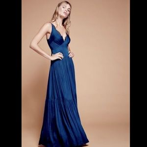 Free People Special Edition Satin Tier MaxiDress S