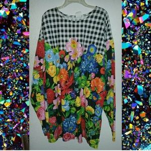 Tops - Long sleeve flower shirt