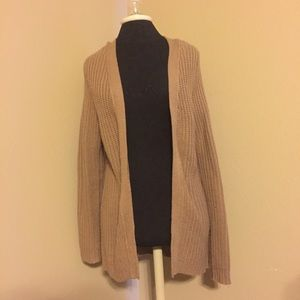 La Hearts Sweaters - Brown Cardigan with criss cross back