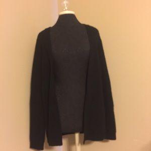 La Hearts Sweaters - Black cardigan with criss cross back