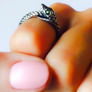 Eternal Evolution Swarovski Crystal Snake Ring