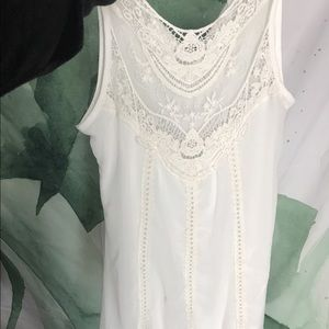 White dress with lace detailing