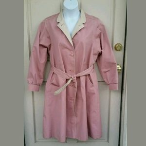 Vintage Jackets & Blazers - Women's Vintage Trench Style Raincoat, SIZE 16