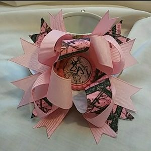 Camo Accessories - Pink and camo browning girl bow