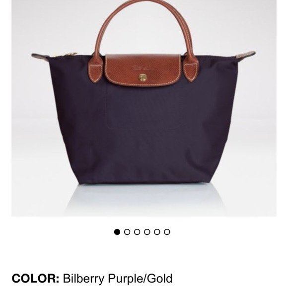 Longchamp Le pliage small tote purple.