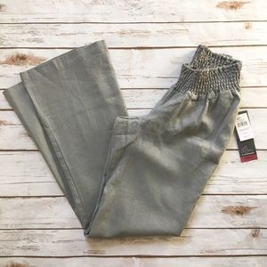 NWT Oh Baby Grey Lightweight Linen Maternity Pants