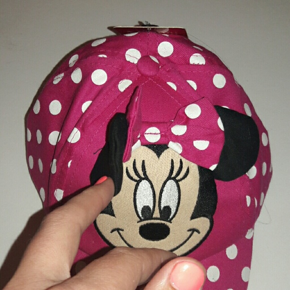 84 Off Disney Other Minnie Mouse Baseball Cap With Bow
