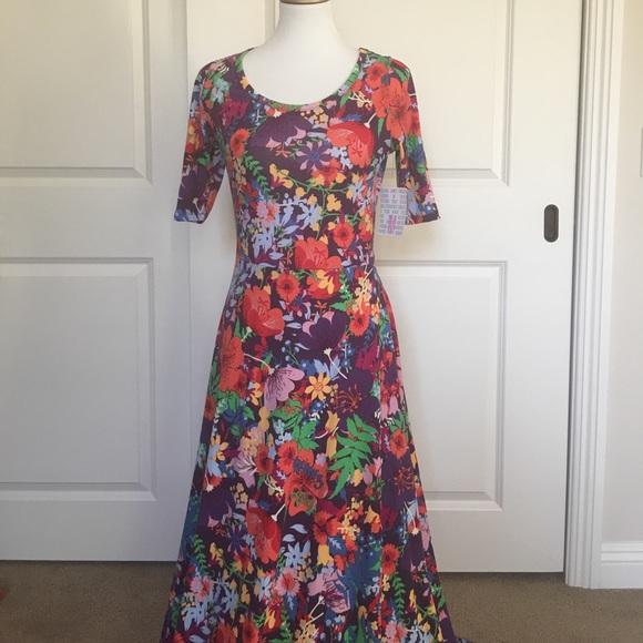 6db896b3c LuLaRoe Dresses   Bnwt Purple Floral Maxi Dress Ana   Poshmark