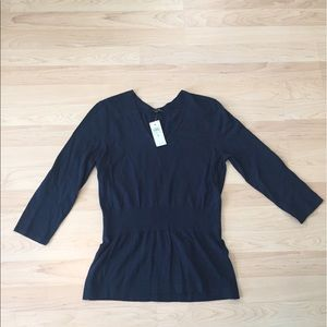Ann Taylor Navy Sweater Size Medium