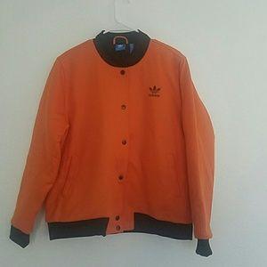 7ad3eba042d adidas Jackets   Coats - Adidas Brooklyn Heights Orange Bomber Jacket