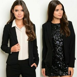 Sip N' Sparkle Jackets & Blazers - COMING SOON! 🆕Tailored One-button Black Blazer