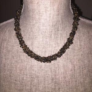 "Jewelry - 16"" brown quartz necklace"