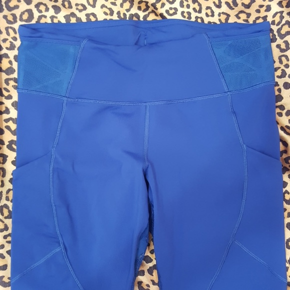 29% off lululemon athletica Pants - Lululemon Royal blue mesh lace leggings from Marieu0026#39;s closet ...