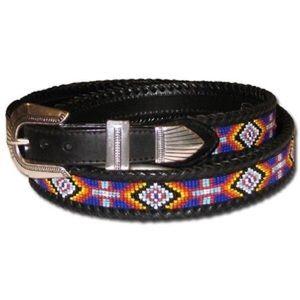 Brighton Beaded Leather Waist Belt 28