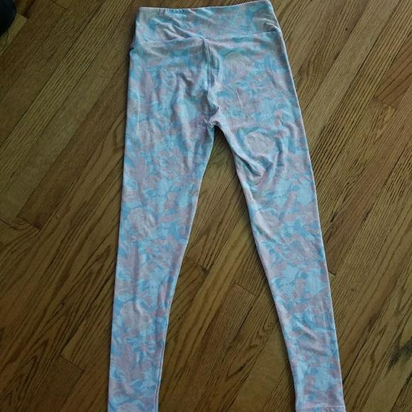 60% off LuLaRoe Pants - LulaRoe Whimsical floral baby blue pink leggings from ! @keilyn30 !u0026#39;s ...