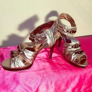 Calvin Klein strappy stilettos