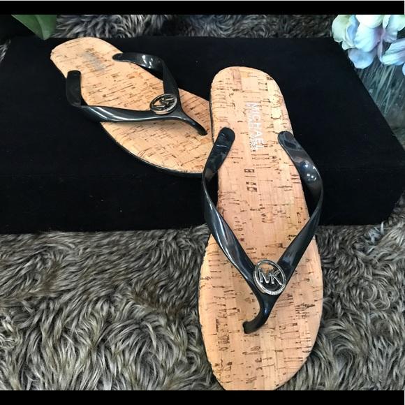 2daf2fe8f2e SALE NWOB Michael Kors Jelly Cork Flip Flops 8.5. M 594f238e981829f25a028e76