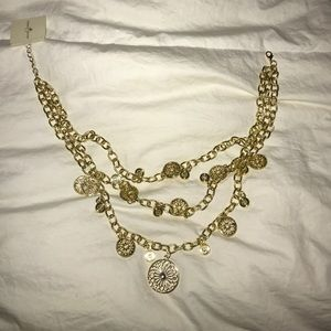 Olivia welles gold 3 tiered necklace
