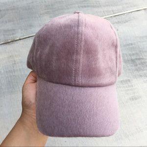 Accessories - Fuzzy Suede Light lavender baseball hat a0c24e1a3b3