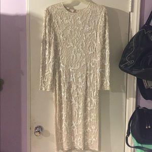 Beaded silk midi dress vintage