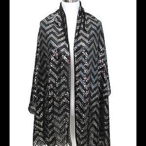 """Accessories - """"MISSONI STYLE"""" PATTERN SEQUIN SCARF"""