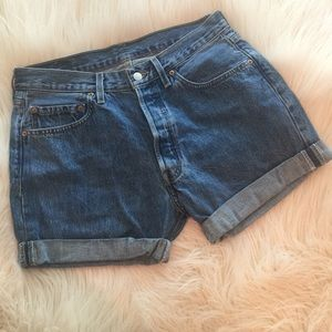 Levi's Pants - Vintage Levi's 501 High Waisted Button Fly Shorts