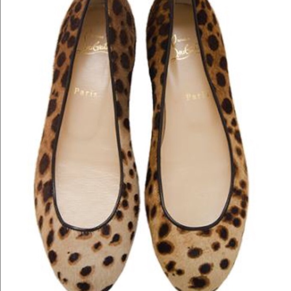 3a811aed3f68 Christian Louboutin Shoes - Christian Louboutin Sonia Pony Hair Leopard  Flats