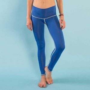 Pants - Teeki leggings oshun blue hot pants yoga tights L