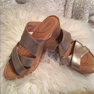 Born Shoes - Born wedge mules NWOT