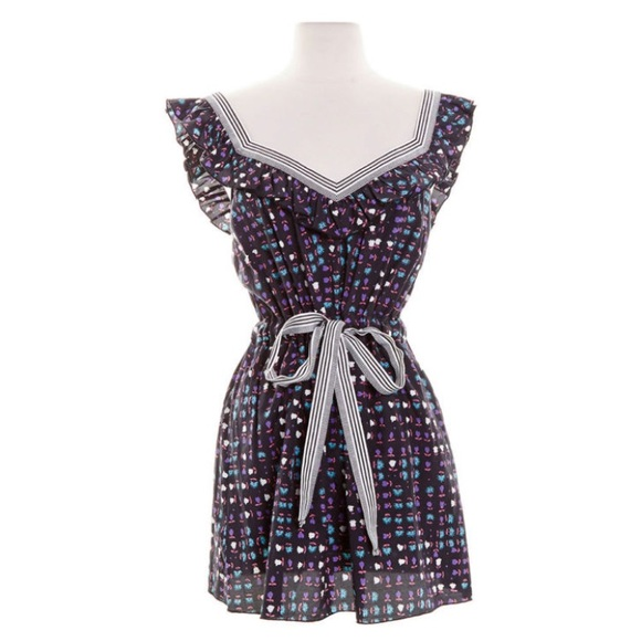 2a0ab5ca4a0 Anthropologie Anna Sui Floral Print Dress