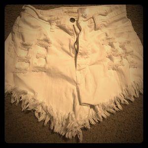 Aphrodite Pants - High waist cut up shorts
