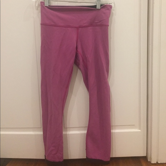 72 off lululemon athletica pants black and pink cropped