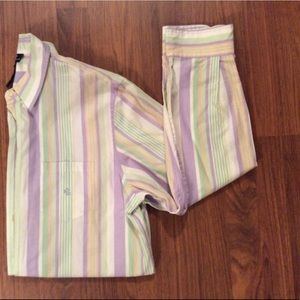 LRL Pastel stripe button down shirt