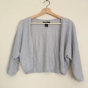 White House Black Market Sweaters - WHBM Metallic Shrug Cardigan