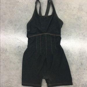 Vintage 90s Denim Spandex jumper onepiece Bodysuit