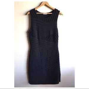 Calvin Klein classic black sheath dress