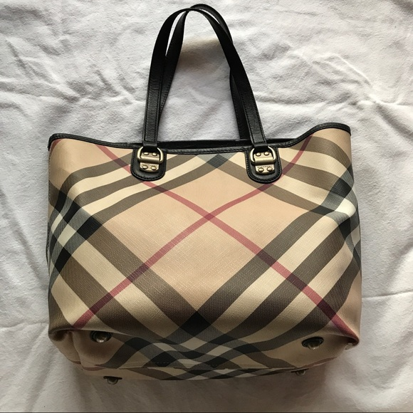 a84015e45fbf Burberry Handbags - Burberry Nova Check Small Tote Back