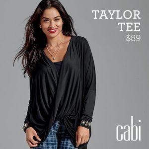CAbi Tops - CAbi Black Twist Front Taylor Tee #3119