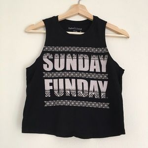Rebellious One Tops - Sunday Funday Crop Tank