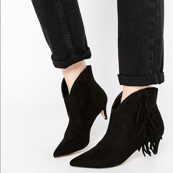 4befe51aecc7 Asos Shoes - 5 Asos Faux Suede Fringe Kitten Heel Booties