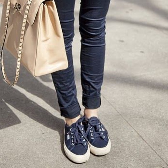 Superga Shoes | Dark Navy Supergas