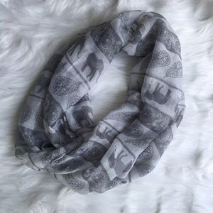 Accessories - Elephant and Paisley Print Infinity Scarf