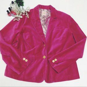 Pink velvety Old Navy Blazer