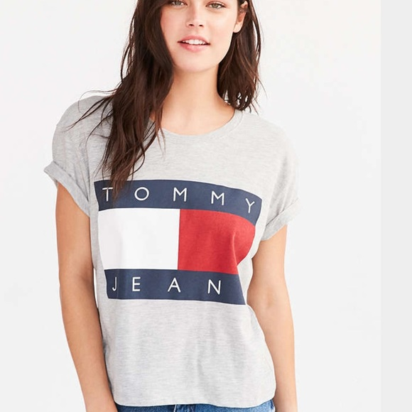 acf85dc47 Tommy Hilfiger Tops | Jeans Logo Urban Outfitters Top | Poshmark