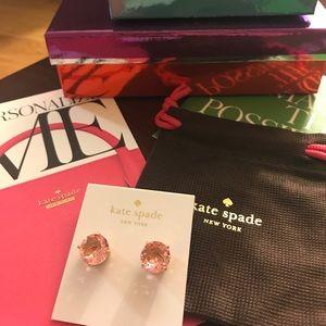 kate spade Jewelry - NWT Kate Spade ♠️ Gumdrop Earrings Light Pink