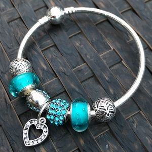 Jewelry - Turquoise Fashion Charm Bracelet 17cm