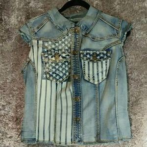Ashley Stewart Jackets & Blazers - ⚡SALE⚡ Ashley Stewart Patriotic Stretch  Vest 12